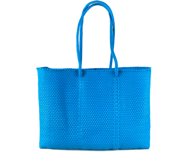 TOTE TURQUOISE + POMPON   BAG